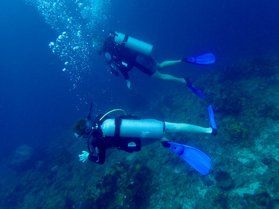 Ryan & Randy, diving in St. Lucia