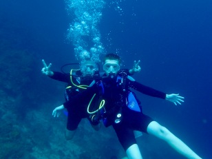 Randy & Ryan, diving in St. Lucia