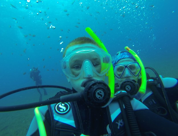 Ryan & Theresa, diving in St. Lucia (2017)