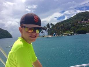 Ryan post-dive, Marigot Bay, St. Lucia (2017)