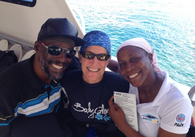 Dwight, Theresa & Mary, diving in St. Lucia
