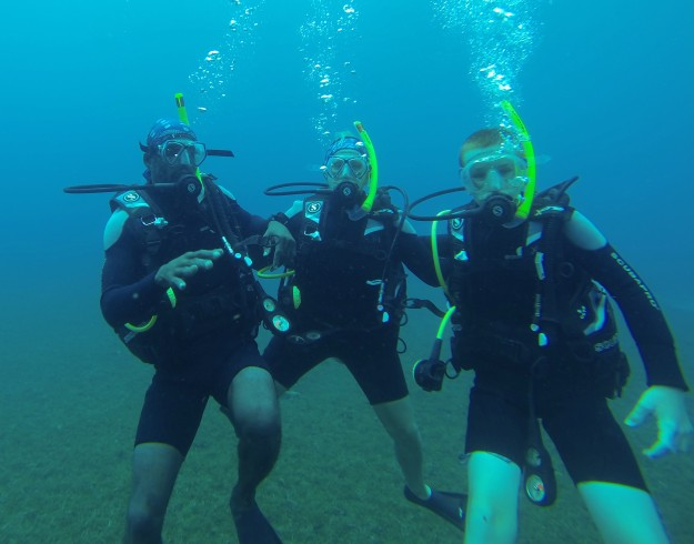 Dwight, Theresa & Ryan, diving in St. Lucia (2017)