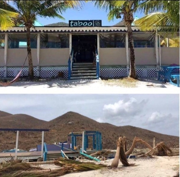 Foxy's Taboo, Jost Van Dyke, BVI (Before and After)