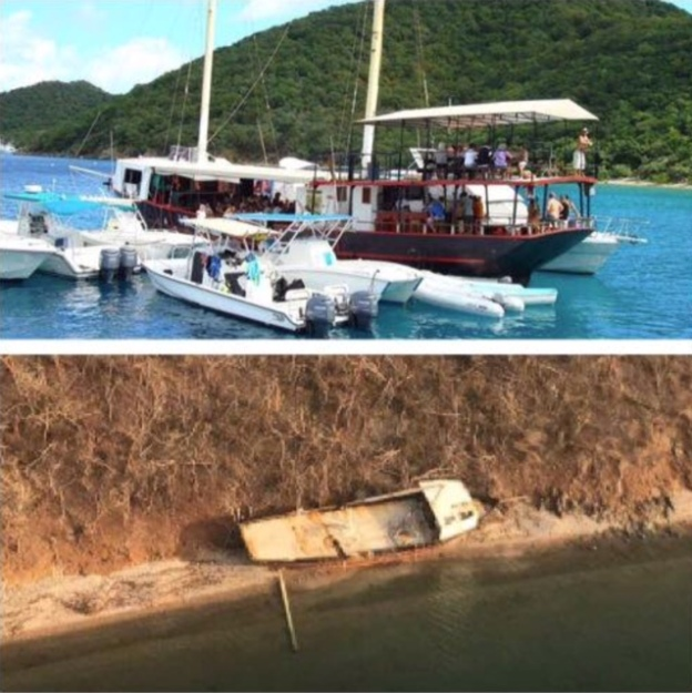 Willie T's, Norman Island, BVI (Before and After)