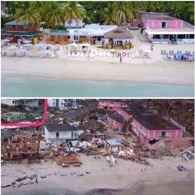 Cane Garden Bay, BVI (Before and After)
