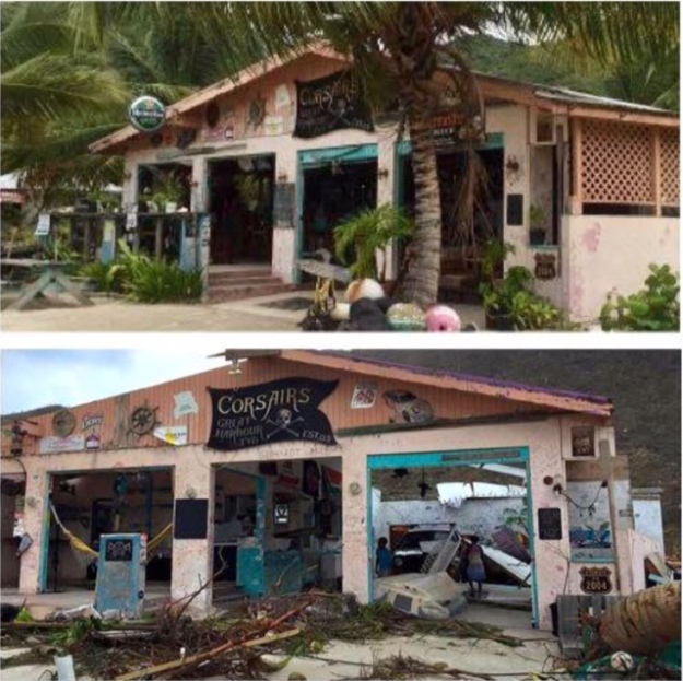 Corsairs, Jost Van Dyke, BVI (Before and After)
