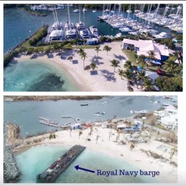 Nanny Cay, Tortola, BVI (Before and After)