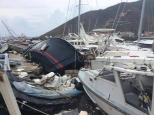 BVI, Nanny Cay Marina Boat Yard, Post Hurricane Irma (2017)