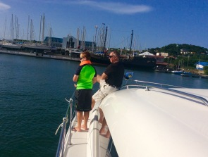 Ronan getting Yacht Controller lessons