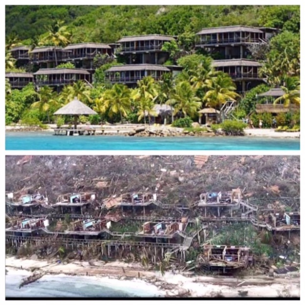 Bitter End Yacht Club, Virgin Gorda, BVI (Before and After)