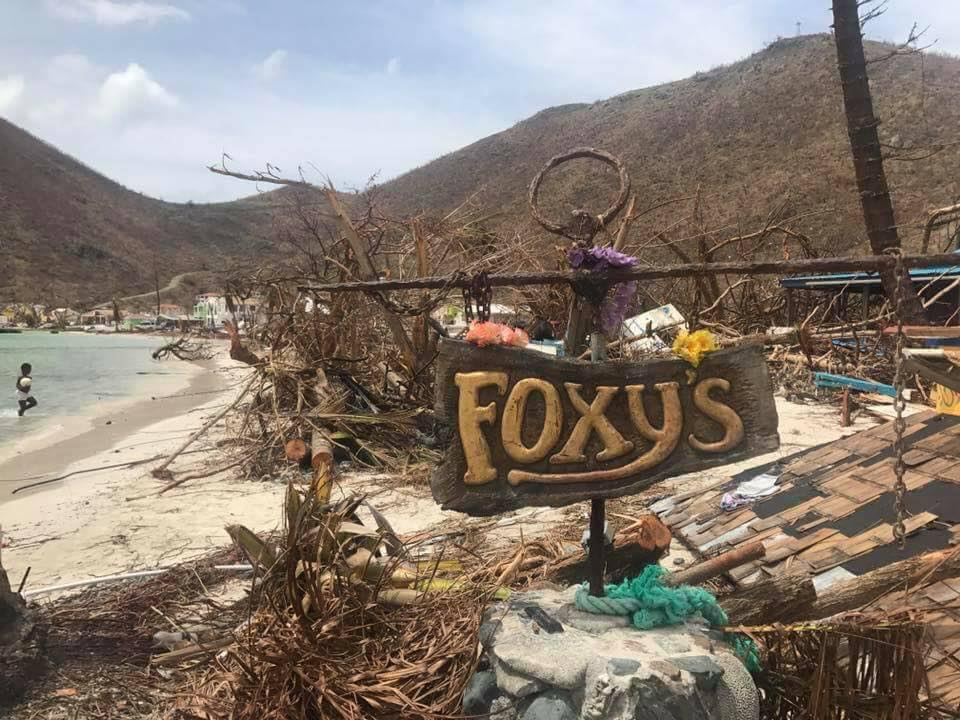 Foxy's, Jost Van Dyke, Post Hurricane Irma (2017)