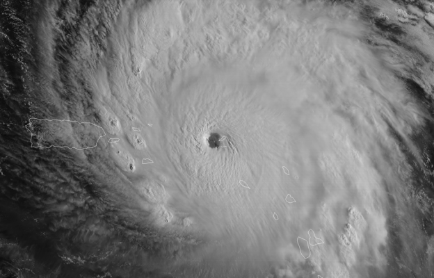 Hurricane Irma (photo from Marine Weather Center's post)