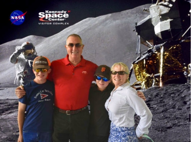 Ryan, Randy, Ronan & Theresa, Kennedy Space Center, Cape Canaveral, FL, USA
