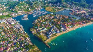 Rodney Bay Marina, St. Lucia - Aerial