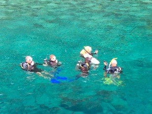 Randy, Ryan, Paulette & John, diving in St. Lucia