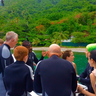 Randy, Ryan, John & Paulette diving in St. Lucia