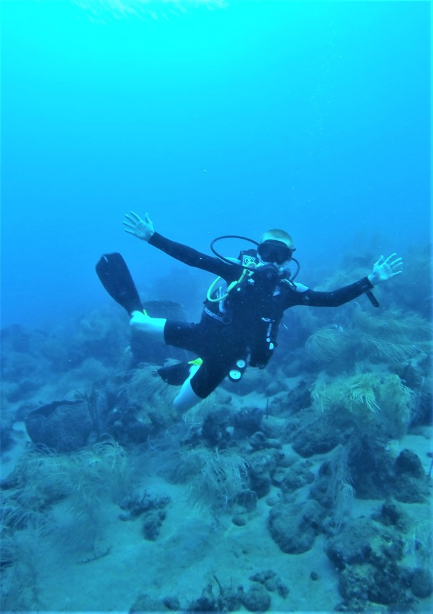 Ryan scuba diving in St. Lucia (Jan. 2018)