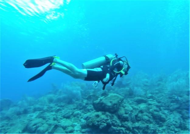 Ryan scuba diving in St. Lucia (Jan. 2018)