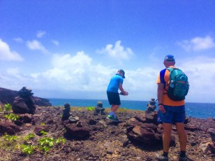 John, & Ronan hiking in St. Lucia (2017)