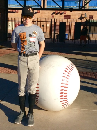 Ryan outside the SF Giants spring training facility (Jan. 2018)