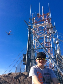 Ryan atop Mount Tempe, AZ (flight landing approach to PHX)