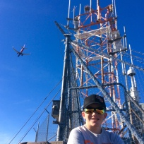 Ryan atop Mount Tempe, AZ (flight landing approach to PHX)