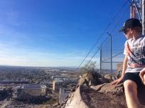 Ryan atop Mount Tempe, AZ, watching the planes land in Phoenix