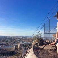Ryan atop Mount Tempe, AZ, watching the planes land in Phoenix