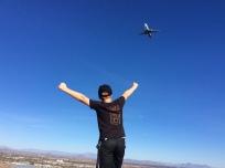 Ronan atop Mount Tempe, AZ (flight landing approach to PHX) (Jan. 2018)