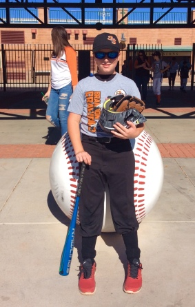 Ronan outside the SF Giants spring training facility (Jan. 2018)