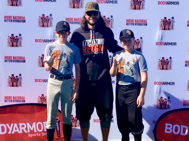 Ryan, Brandon Crawford and Ronan (Jan. 2018)