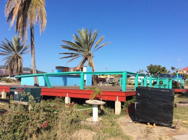 Virgin Gorda Yacht Harbor, old dockside restaurant, Virgin Gorda, British Virgin Islands (March 2018)