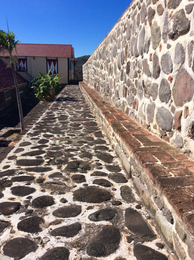 Walkway, Fort Oranje, St. Eustatius (Dutch Caribbean)