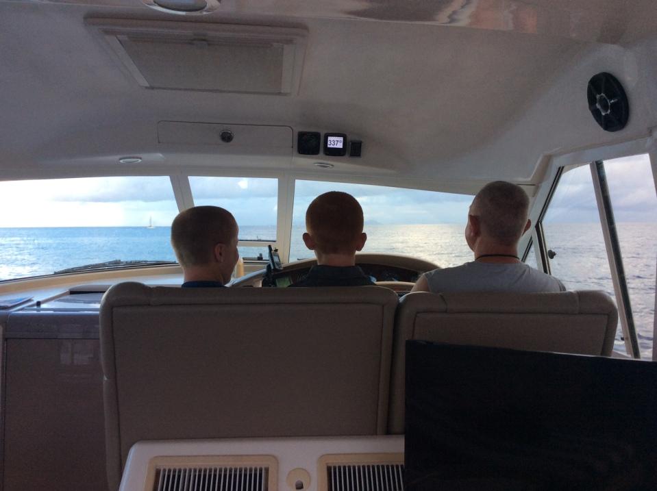 Ronan, Ryan & Randy at the helm