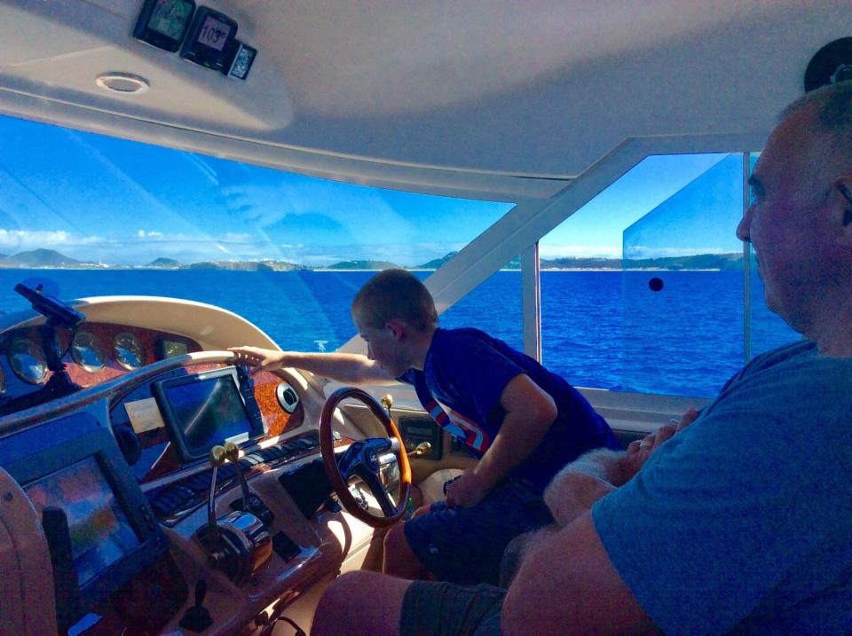 Ryan & Randy at the helm - Statia to St. Martin (2018)