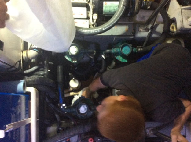 Cleaning the engine room bilge