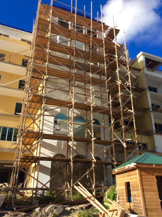 Construction, Cane Garden Bay, Tortola, BVIs (March 2018)