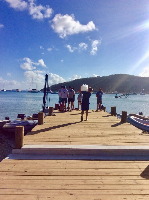 New dinghy dock, Great Harbor, Jost Van Dyke, BVIs (March 2018)