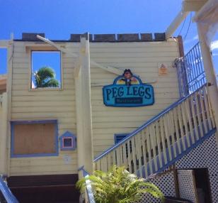 Destroyed Peg Legs Restaurant, Nanny Cay, Tortola, BVI (March 2018)