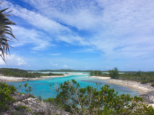 View from the Christopher Columbus monument, Long Island, Bahamas