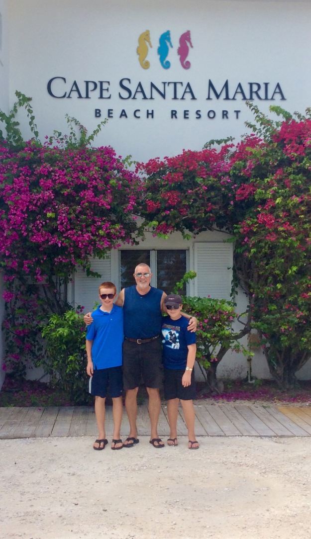 Ryan, Randy & Ronan, Cape Santa Maria Beach Resort, Long Island, Bahamas