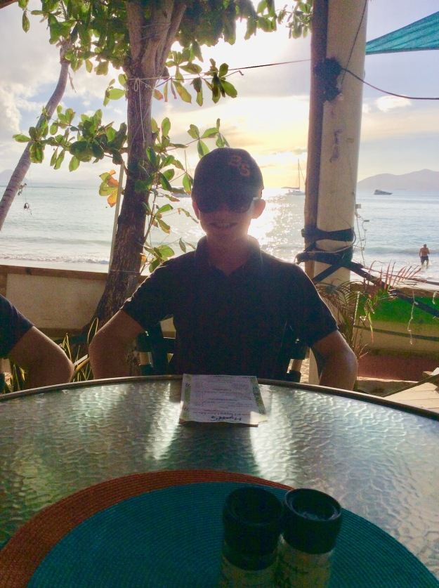 Ryan at Myett's Restaurant, Cane Garden Bay, Tortola, BVIs (March 2018)