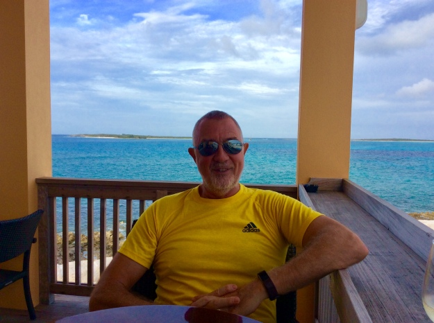 Randy at Flying Fish Marina, Long Island, Bahamas