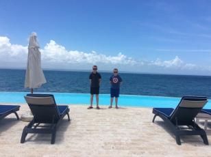 Ryan & Ronan, Ocean Club infinity pool, Puerto Bahia Marina, Samana, Dominican Republic (2018)