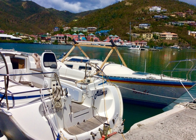 Old marina at Nanny Cay, Tortola, BVI (March 2018)
