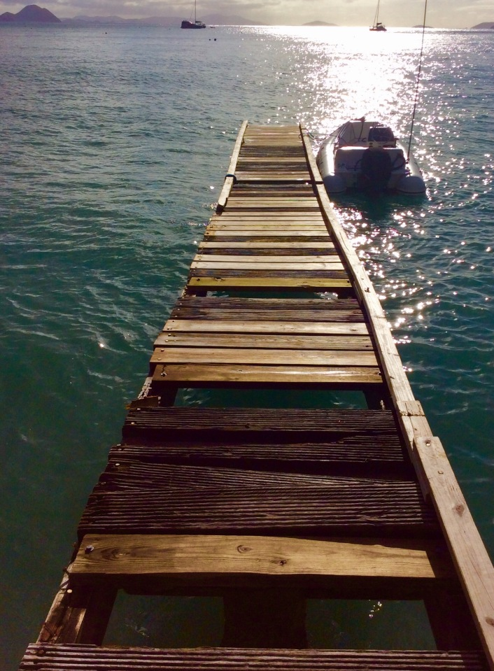 Dinghy dock, Cane Garden Bay, Tortola, BVIs (March 2018)