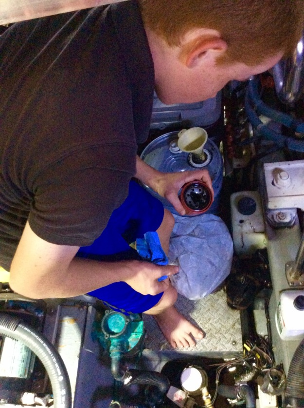 Securely dispose of old oil filter
