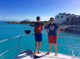Ryan & Ronan hoisting the Turks & Caicos courtesey flag (2018)
