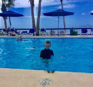 Ronan & Ryan in the pool at Nanny Cay, Tortola, BVI (March 2018)