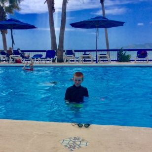 Ronan & Ryan in the pool at Nanny Cay, Tortola, BVI (March 2018)